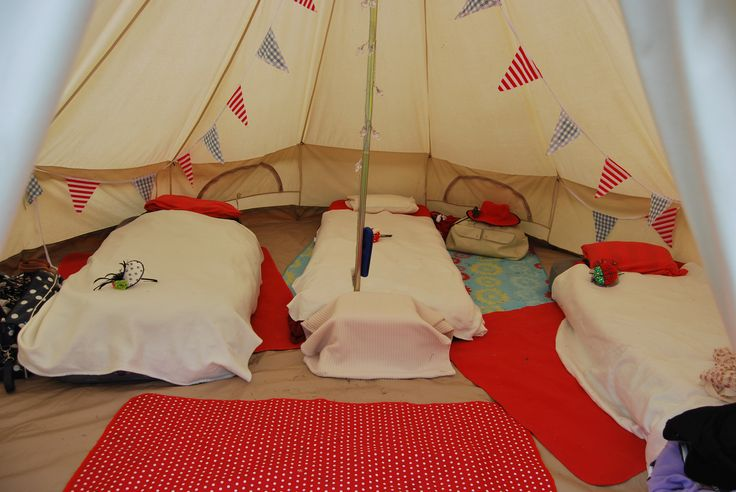 Inside our glamped tent for the Paloma Faith gig