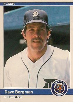 1984 Fleer Update 11 Dave Bergman Detroit Tigers Baseball Card