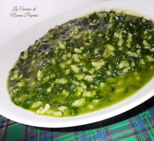 Riso con spinaci