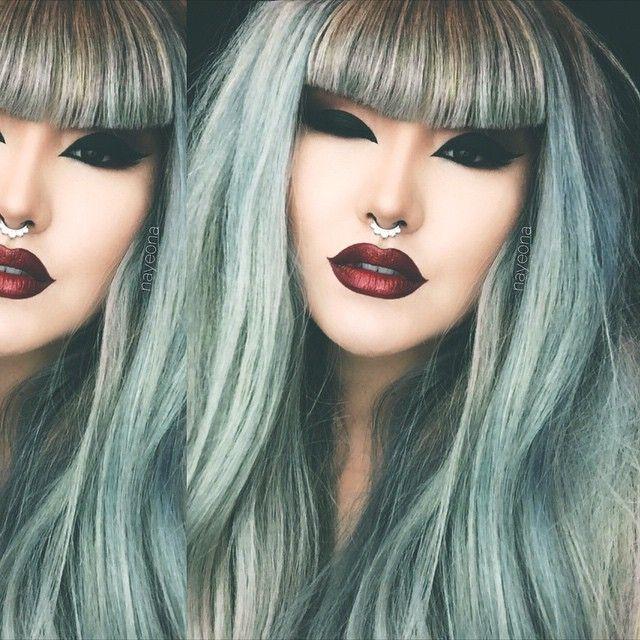 Grunge mermaid septum jewelry lotusandco hair hairhegoes foundation