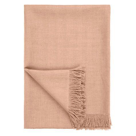 Buy John Lewis Croft Collection Herringbone Linen Throw Online at johnlewis.com