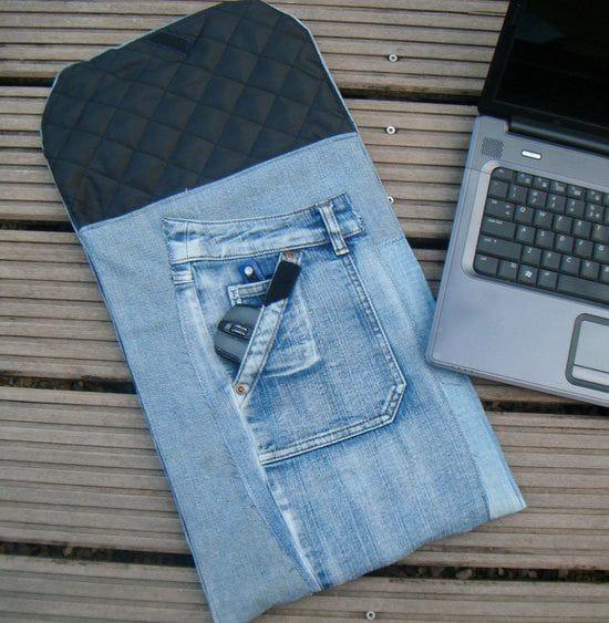 Wie man eine schöne Tasche aus Jeans macht