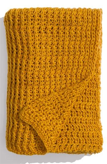 $68 - Mustard Open Knit Throw