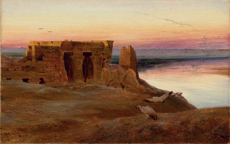 "Edward Lear (1812-1888), ""kom Ombos, Egypt"" (1856)"
