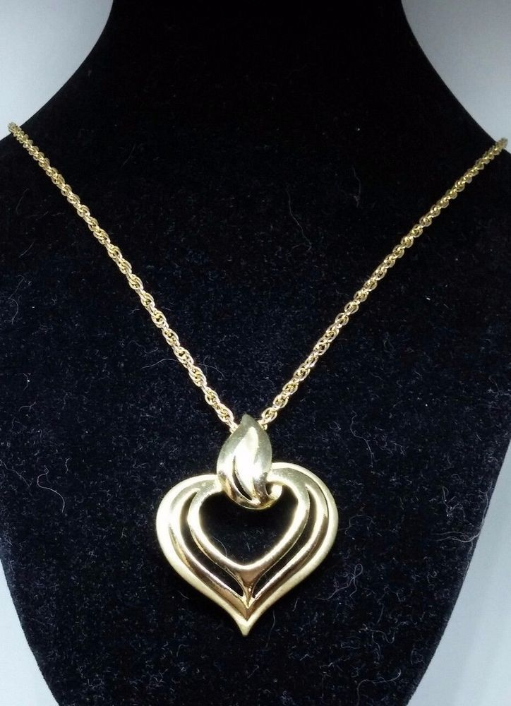 Gold Heart Pendant Necklace 12″ Chain | Jewelry & Watches, Fashion Jewelry, Necklaces & Pendants | eBay!