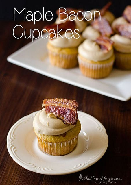 easy and delicious maple bacon cupcakes made from my box mix cupcake recipes base by imtopsyturvy.com