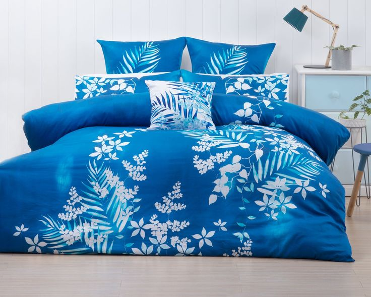 Dive into your own serene deep blue ocean with this gorgeous Shabori Duvet Cover Set from Savona.