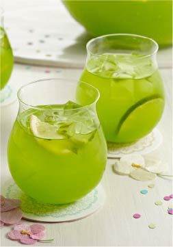Sparkling Pineapple-Lime Punch -- Fresh mint muddled with lemon-lime drink mix give this punch recipe its extraordinary flavor--and it still only takes 10 minutes to prepare!