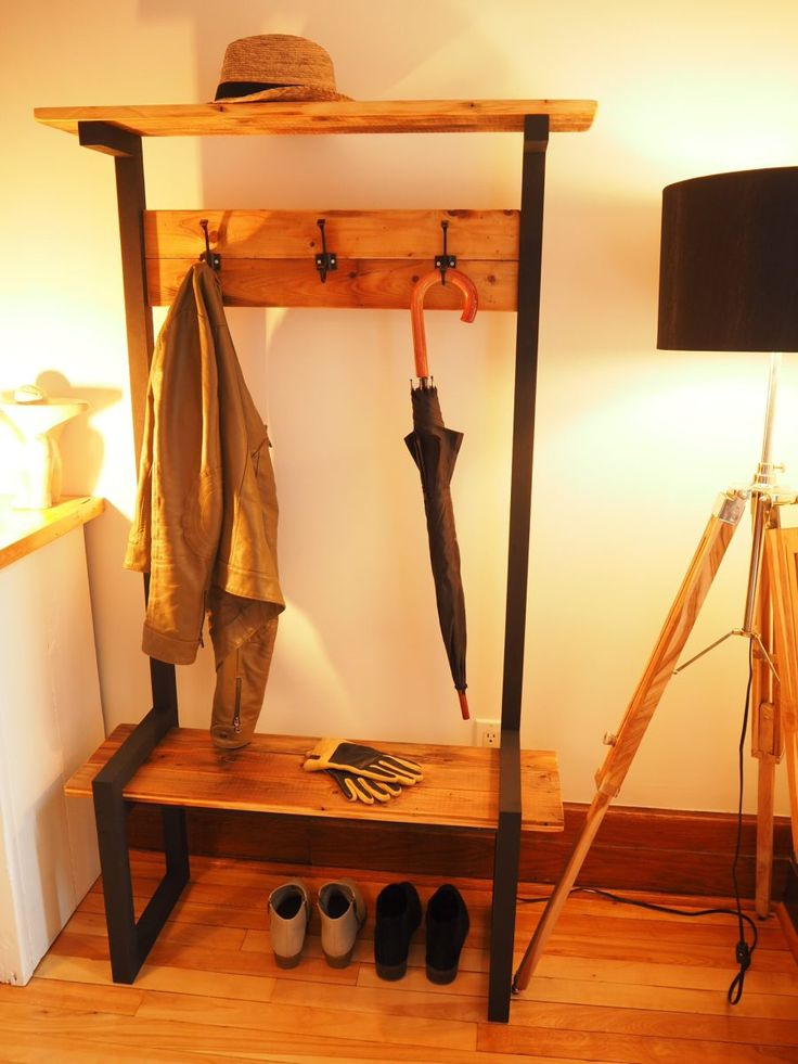 The 25+ best Industrial coat rack ideas on Pinterest ...