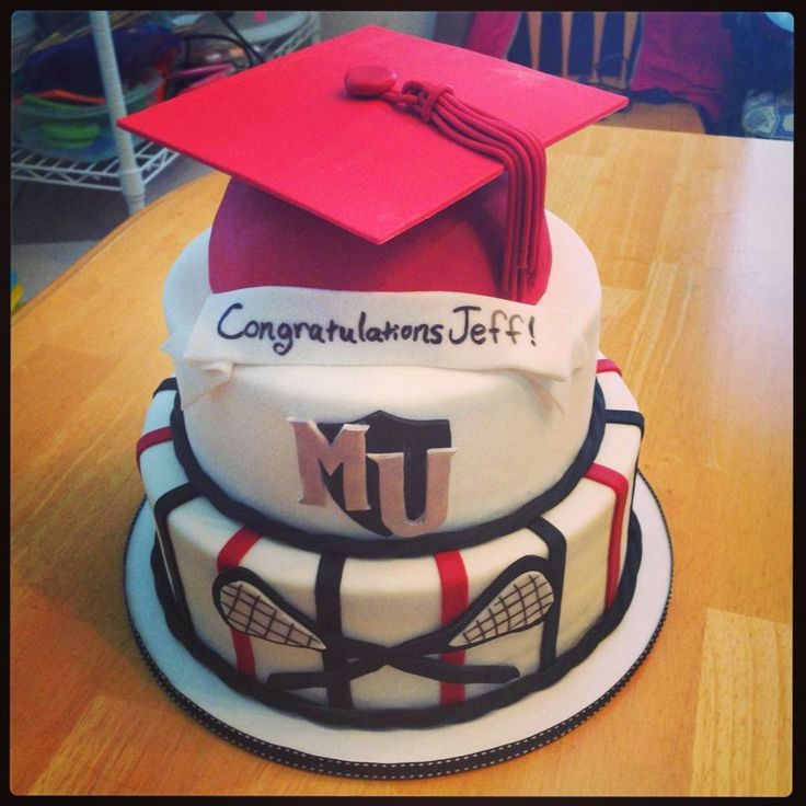 Cakes by Becky: Lacrosse Player Graduation Cake