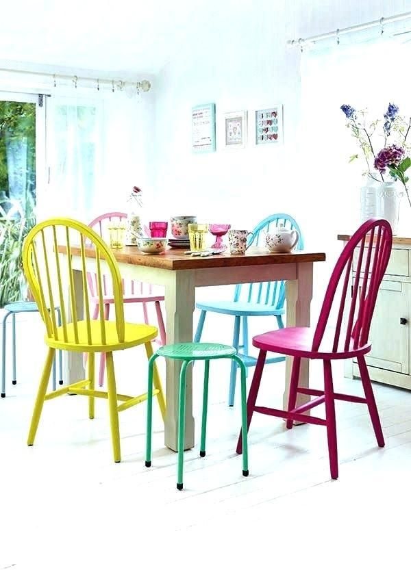 Bright Coloured Furniture Painted Dining Chairs Bright Colored Furniture Bright Dining Rooms