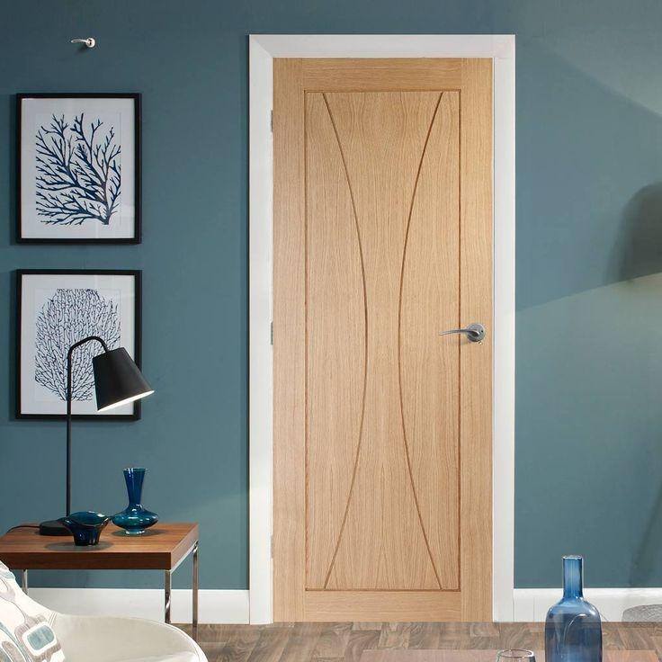 Simpli Door Set, Verona Oak Flush Panel Door - Without Decoration. #flushoakdoorset #flushdoor #internaldoor