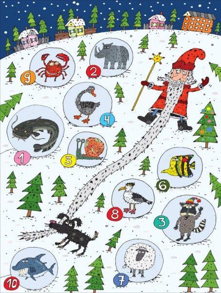 Прочитайте по первым буквам слово, которое Дед Мороз спрятал в 10 шарах.