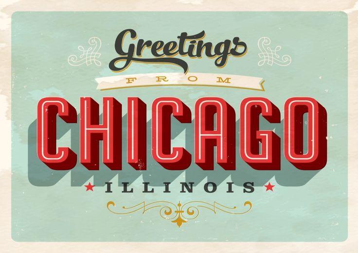 Chicago - Vintage Style   Urlaubsgrüße   Echte Postkarten online versenden