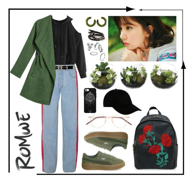 """Untitled #xy"" by parkeunseo on Polyvore featuring Koché, B-Low the Belt, Puma, Cult Gaia, Fifth & Ninth and STONE ISLAND"