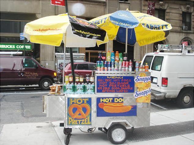 Classic hot dog cart