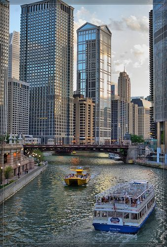 Chicago River and Downtown Area | Flickr - Photo Sharing!