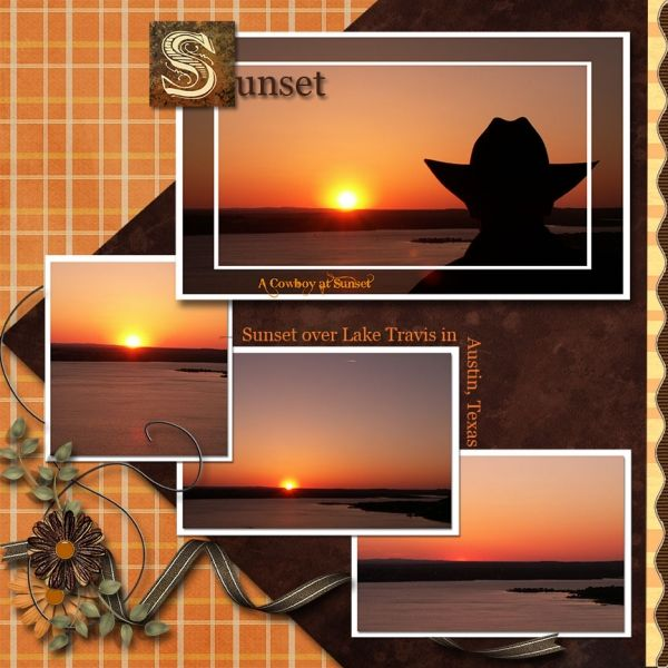 Texas Sunset Stunning! Increasing sizes and the double border.