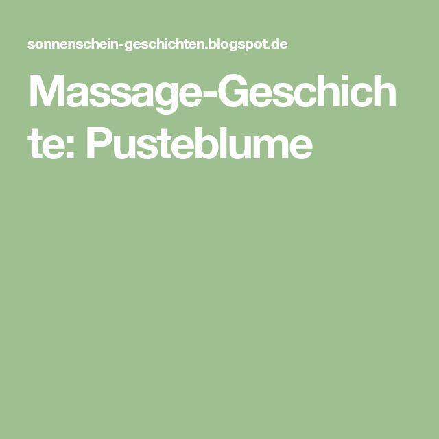 Massage-Geschichte: Pusteblume