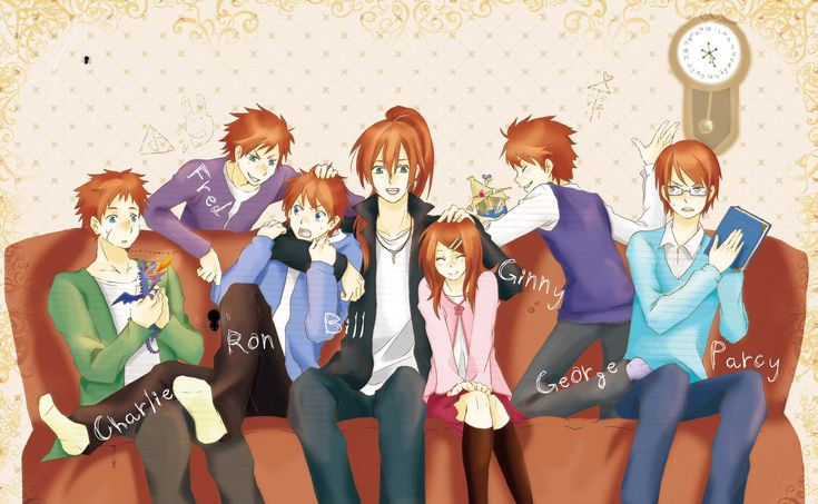 The Weasley siblings... sometimes the anime version is ...