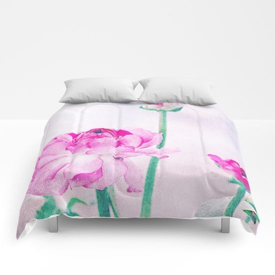 Vintage Ranunculus (7) Comforters