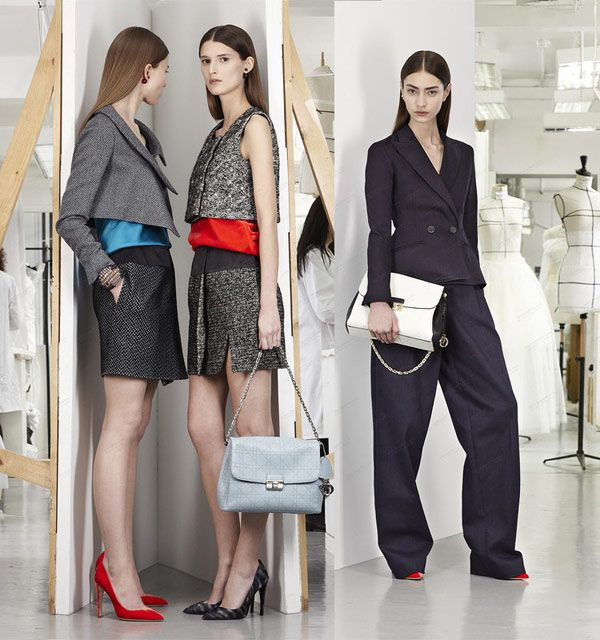 """Christian Dior Small Leather """"Diorling"""" Bag .  Different colors you can choose!"""
