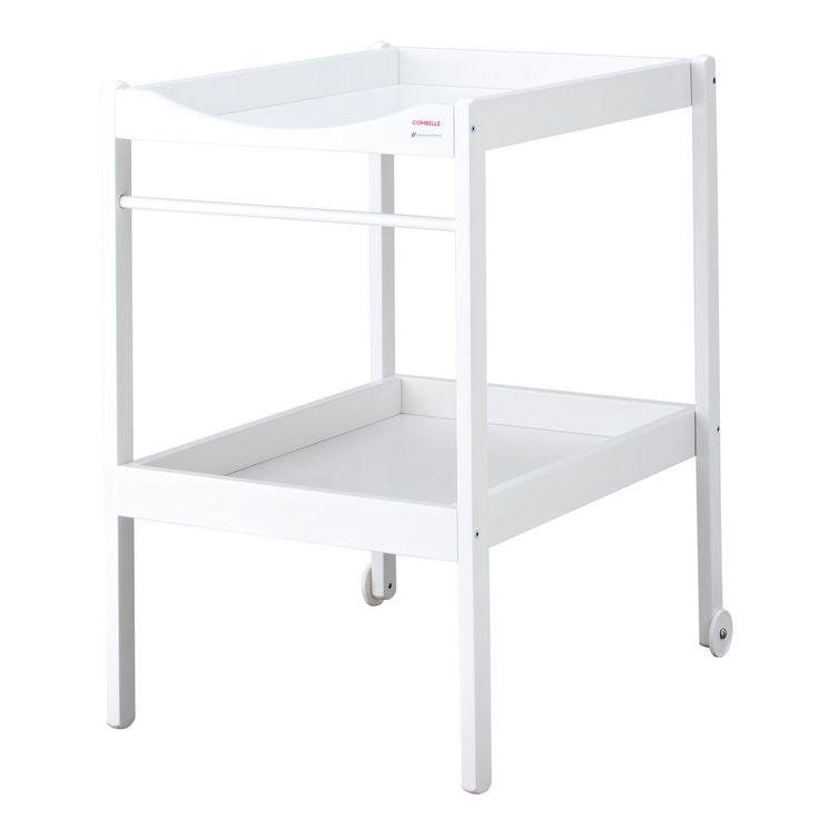 Table à langer Alice laqué blanc : Combelle - Table à langer classique - Berceau Magique