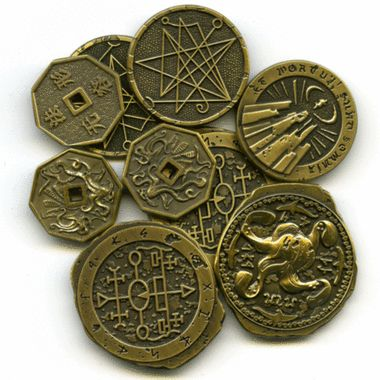 Innsmouth Gold, available for pre-order from Chaosium.com. Make your Call of Cthulhu games come alive with these deep one minted coins.