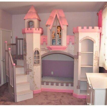 Every little girls dream.... What an amazing idea for a bed. And you would have no trouble getting your children to sleep either so it's a win win!!!