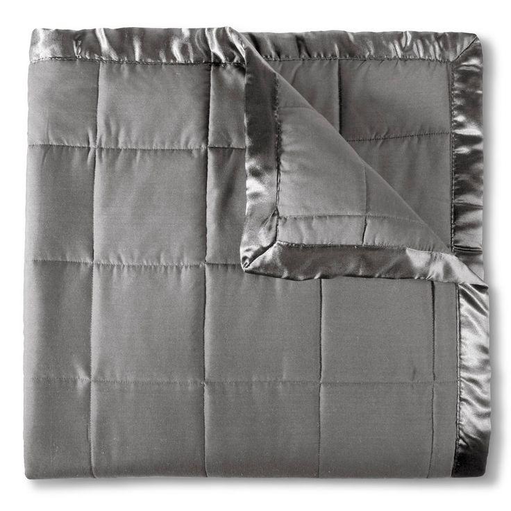 Elite Home Down Alt Microfiber Blanket - Grey (Twin)