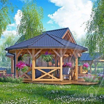 Drewniana altana ogrodowa ośmiokątna (Gazebo) 500 cm