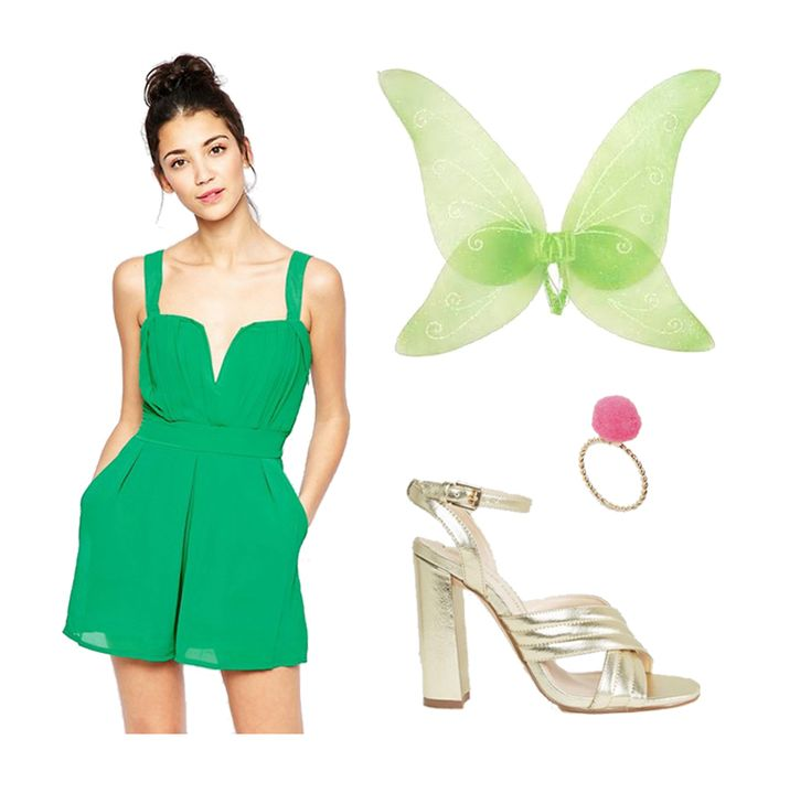 The coolest ways to be Tinker Bell for Halloween | Glam Halloween party Tink costume inspiration | [ http://di.sn/6007864oU ]