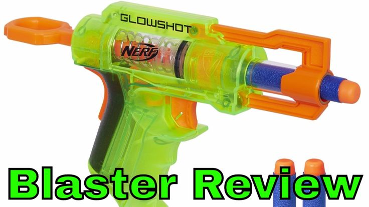 Nerf Glowshot Review Jouet Fusil Blaster LED Test et Démonstration de ti...