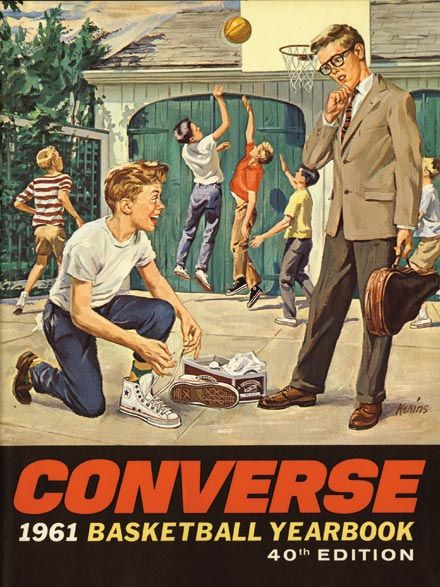 Converse. Basketball shoes like the pro's wore. Hightops!  Cool!