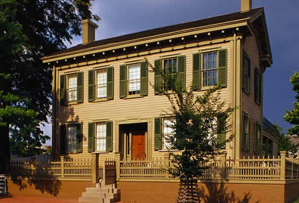 Abraham Lincoln's house in Springfield, Ill.