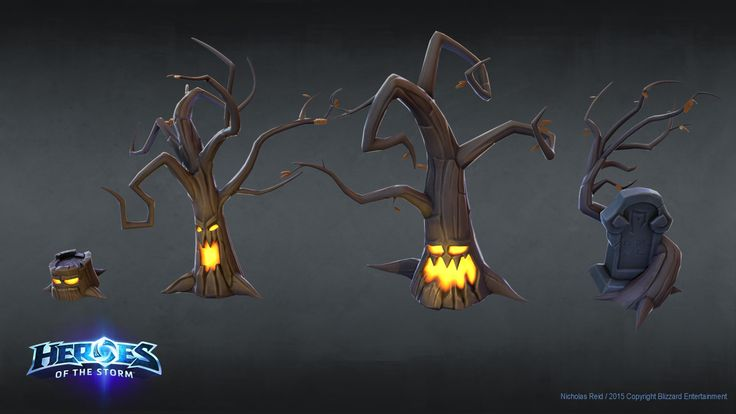 ArtStation - Heroes Of The Storm - Spooky Trees, Nicholas Reid