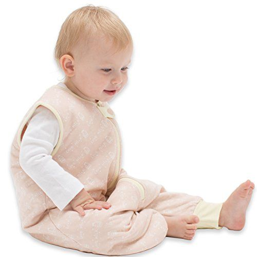 TEALBEE BABY DREAMSUIT: Softest Bamboo Sleep Sack with Feet for Walking Toddlers - Safe Warm Wearable Blanket for Babies (2T-3T, Peach/Yellow) - $36.99