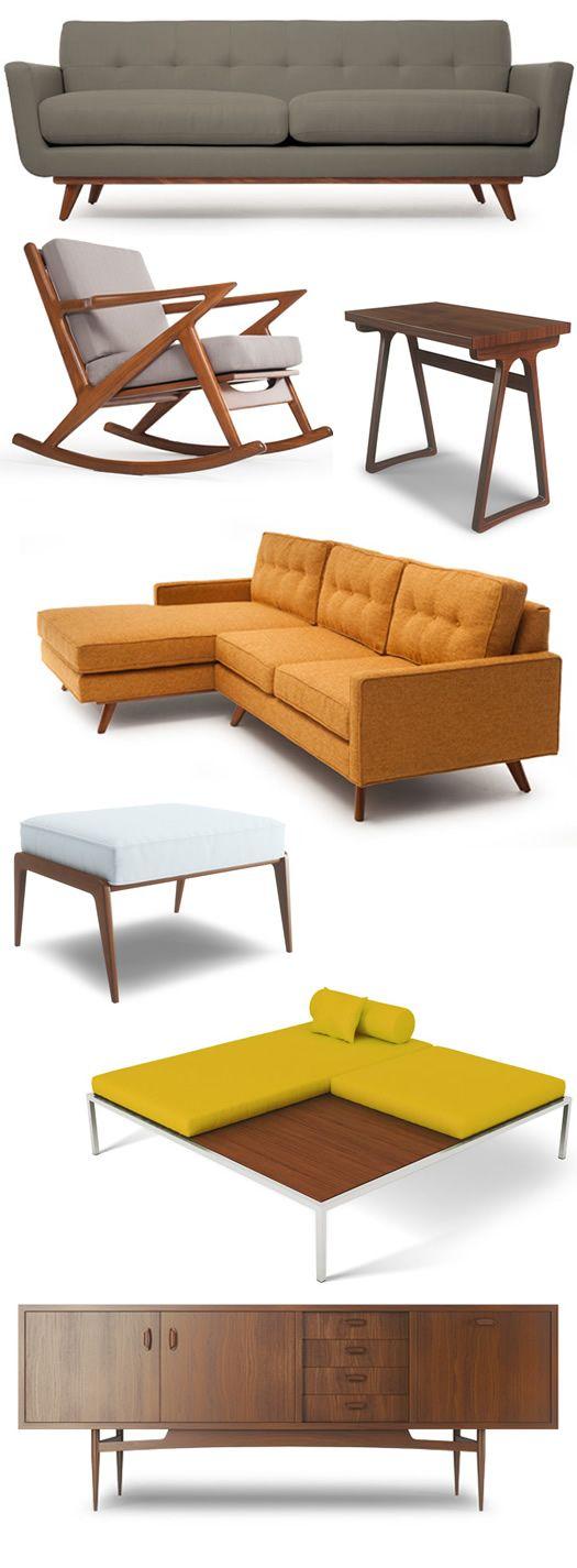 mid century modern goodness... God I love that orange sofa.