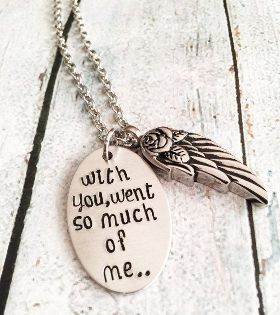 Urn necklace  Hand stamped necklace  Loss by BuyMeAPresent on Etsy