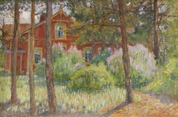 Maria Wiik (Finnish, 1853 – 1928): House in a glade (1920)