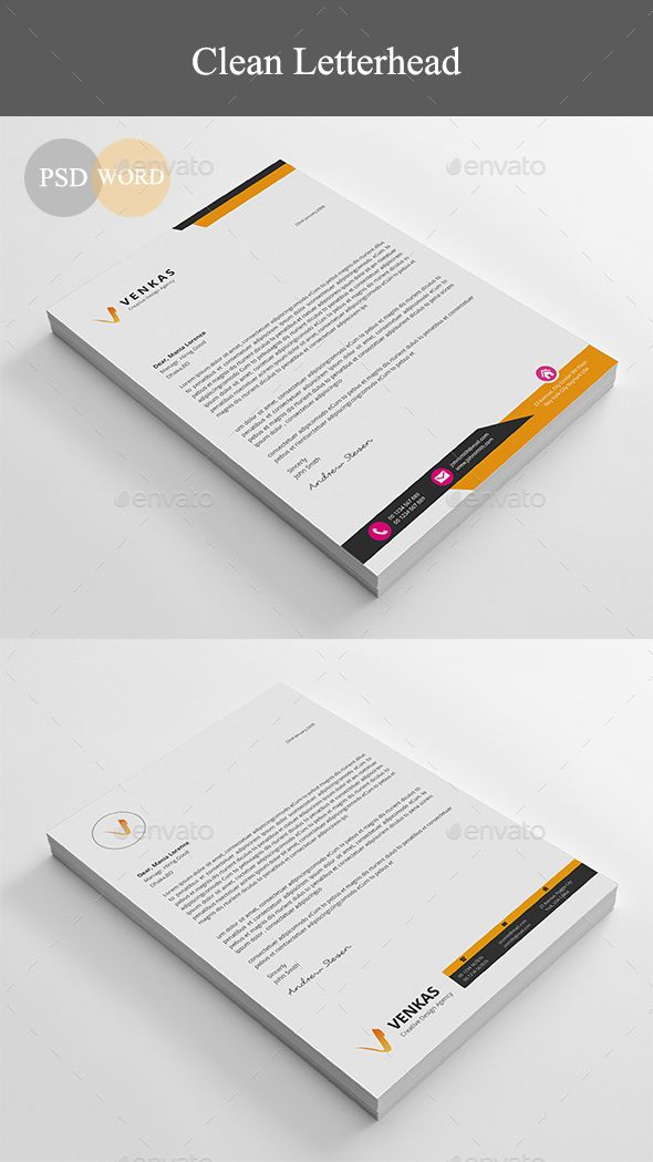 Letterhead - Stationery Print Templates Download here: https://graphicriver.net/item/letterhead/19558635?ref=classicdesignp