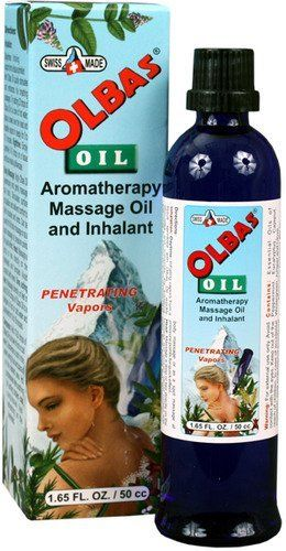 OLBAS OLBAS OIL,50cc 1.65 OZ 1-EA by Olbas. $26.99. Stimulates circulation at the surface of the skin. Enhance your breathing passages. Delivers invigorating and soothing sensations to the nasal and bronchial areas. Completely natural essential oil formula. Well known for its use in massage. Olbas oil originated in basel, Switzerland over 100 years ago, and continues to be a European and worldwide favorite. The natural essential oils in olbas are extracted from ...