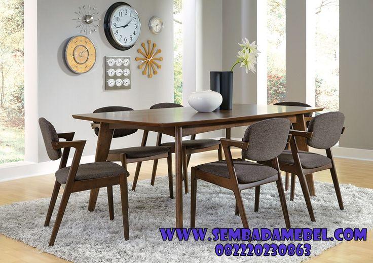 DesainMeja Makan Retro Kayu Jati, Meja Makan Jati Retro Modern, Set Meja Makan Retro 6 Kursi 1 Meja, Meja Makan Minimalis Retro Set Meja Makan Kayu Jati dengan konsep retro modern yang berformasi 6 kursi dan 1 meja, memiliki deasin yang simpel minimalis dan modern sangat cocok untuk mengisi interior ruang makan keluarga yang berkonsep …
