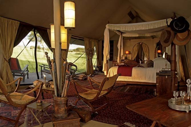 Luxury Tent At Singita Sabora Tented Camp Glamping