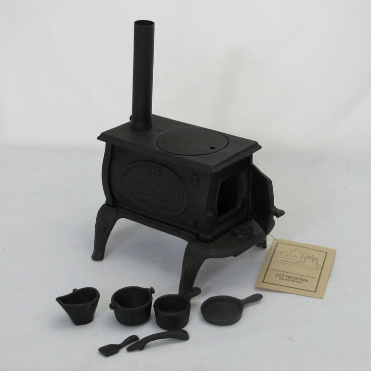 Old Mountain Cast Iron Trivet | Old Mountain Cast Iron Mini Box Stove Set 10 inches High x 8 inches ...