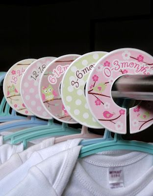 Dividers for all the clothes you get after a baby shower! Link goes to more gifts