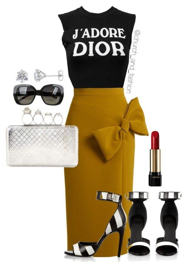 """C&F LOTD"" by church-fashion on Polyvore featuring Christian Dior, Roksanda, Givenchy, Alexander McQueen, Lancôme and Bottega Veneta"
