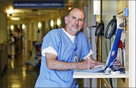 Bacterial meningitis nearly killed Rob Renno, a registered nurse at Swedish Hospital. It did take his hearing