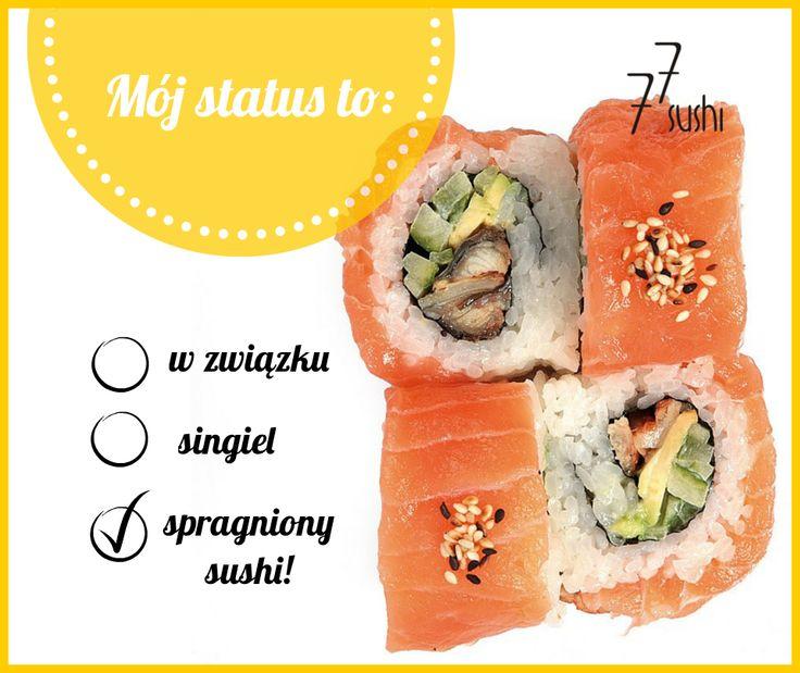 Jedyna właściwa odpowiedź ;)  Sprawdź naszą ofertę na: www.77sushi.com #77Sushi