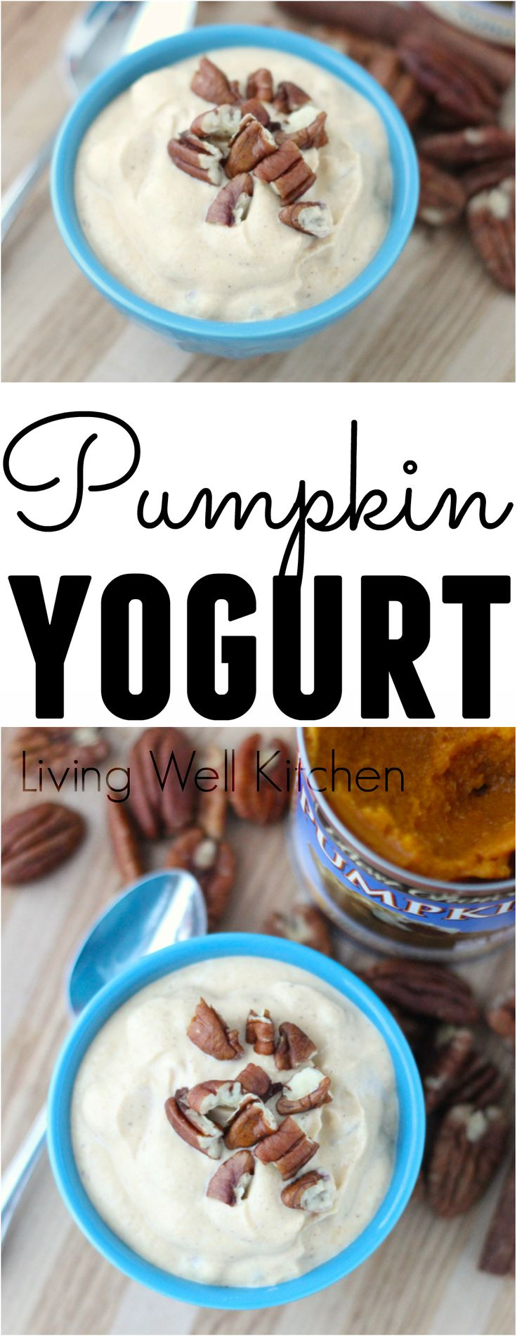 Pumpkin Yogurt from @memeinge is easy to make, low in added sugar, and high in lean protein and healthy fat. Great recipe for breakfast and also perfect as an afternoon snack
